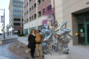 Downtown Installation with Elisabeth and George Hart