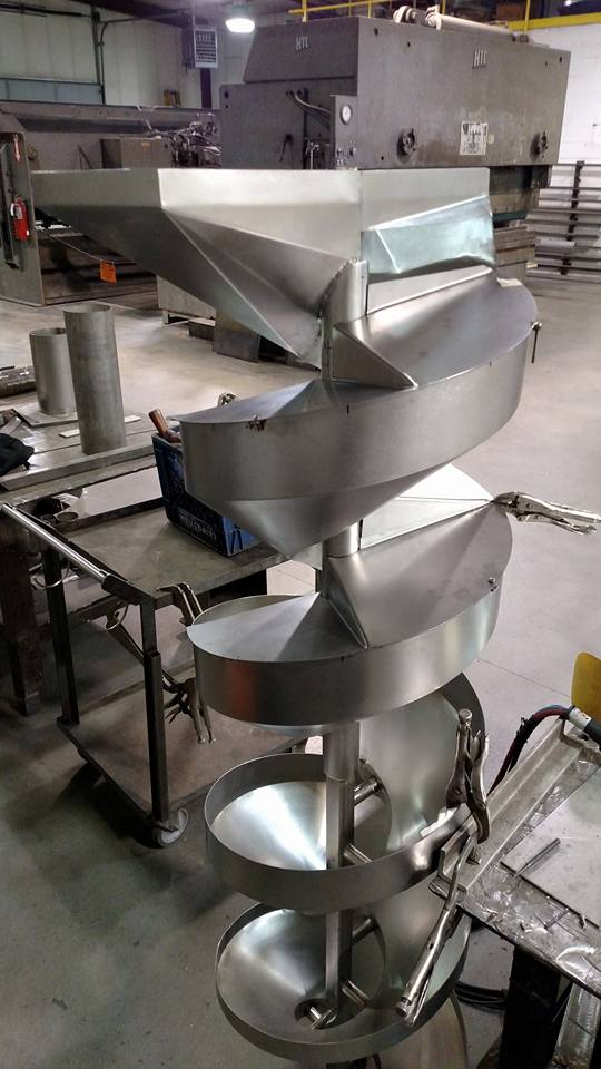 Spiral Chute with Covers Prevent Allergen Contamination
